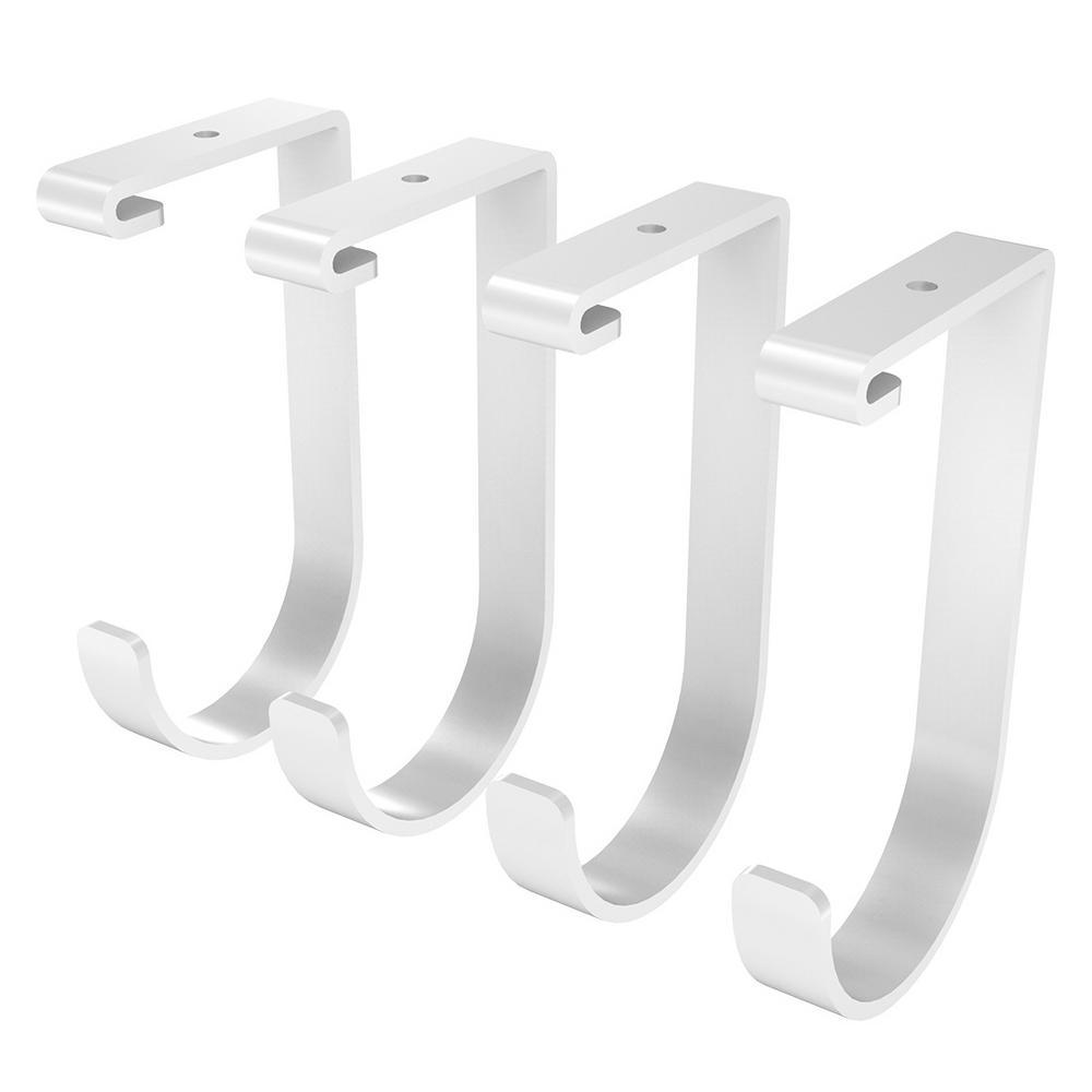 GRH1 Ceiling Mounted Storage Rack Hooks 4-Pack White