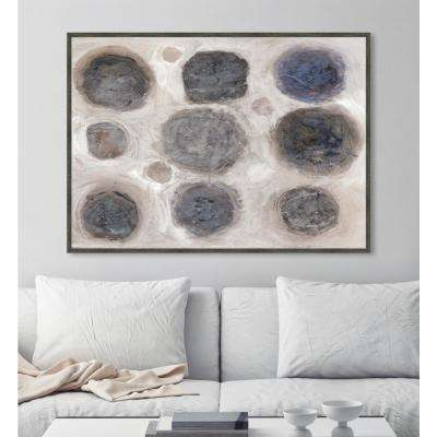 """32 in. x 44 in. """"Astronomical II"""" Framed Canvas Wall Art"""