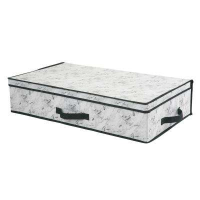 28 in. x 16 in. x 6 Under the Bed Storage Box in Marble