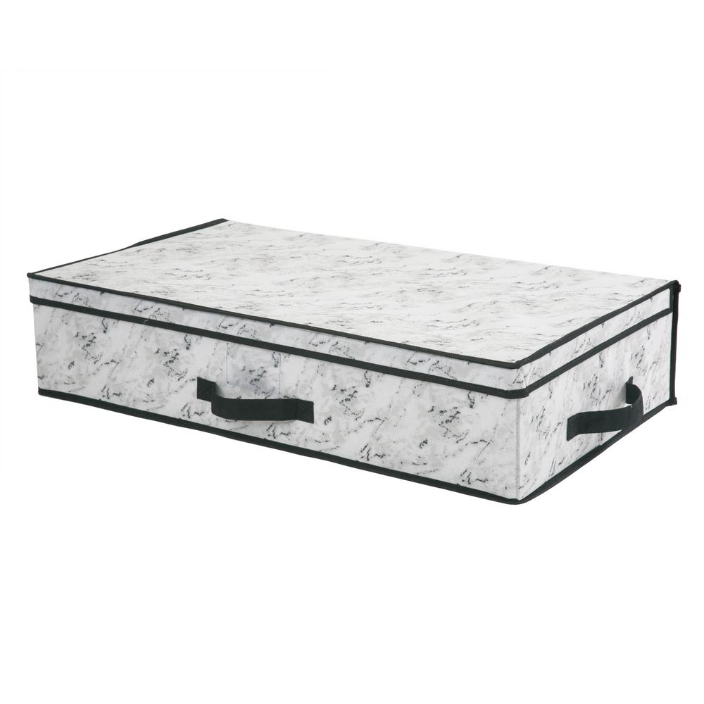 Simplify 28 in. x 16 in. x 6 Under the Bed Storage Box in Marble