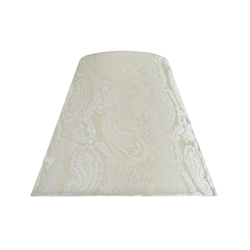 2c13ca6d49fa Aspen Creative Corporation. 14 in. x 11 in. Taupe and Paisley Pattern  Hardback Empire Lamp Shade