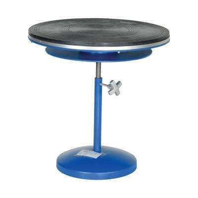 24 in. Manual Turntable Gas Cylinder Double Tier Turn Knob