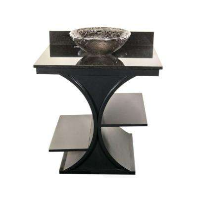 Cruz 30 in. Vanity in Black with Granite Vanity Top in Black with Black Nickel Basin