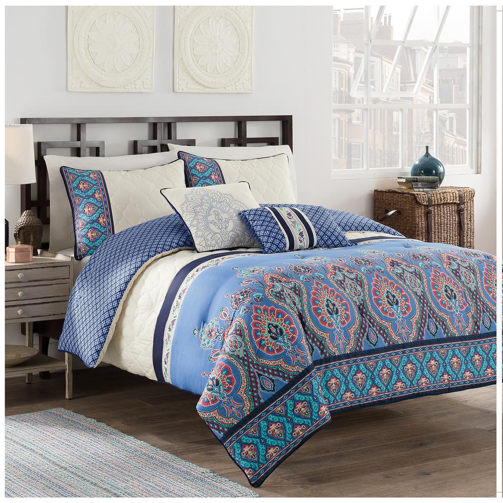 Malia 5-Piece Multi King Comforter Set by