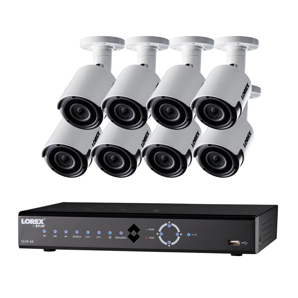 16-Channel 4K 3TB HDD Surveillance NVR System with 8 Super HD