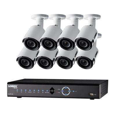 16-Channel 4K 3TB HDD Surveillance NVR System with 8 Super HD 4MP Indoor/Outdoor Wired Cameras and Remote Viewing