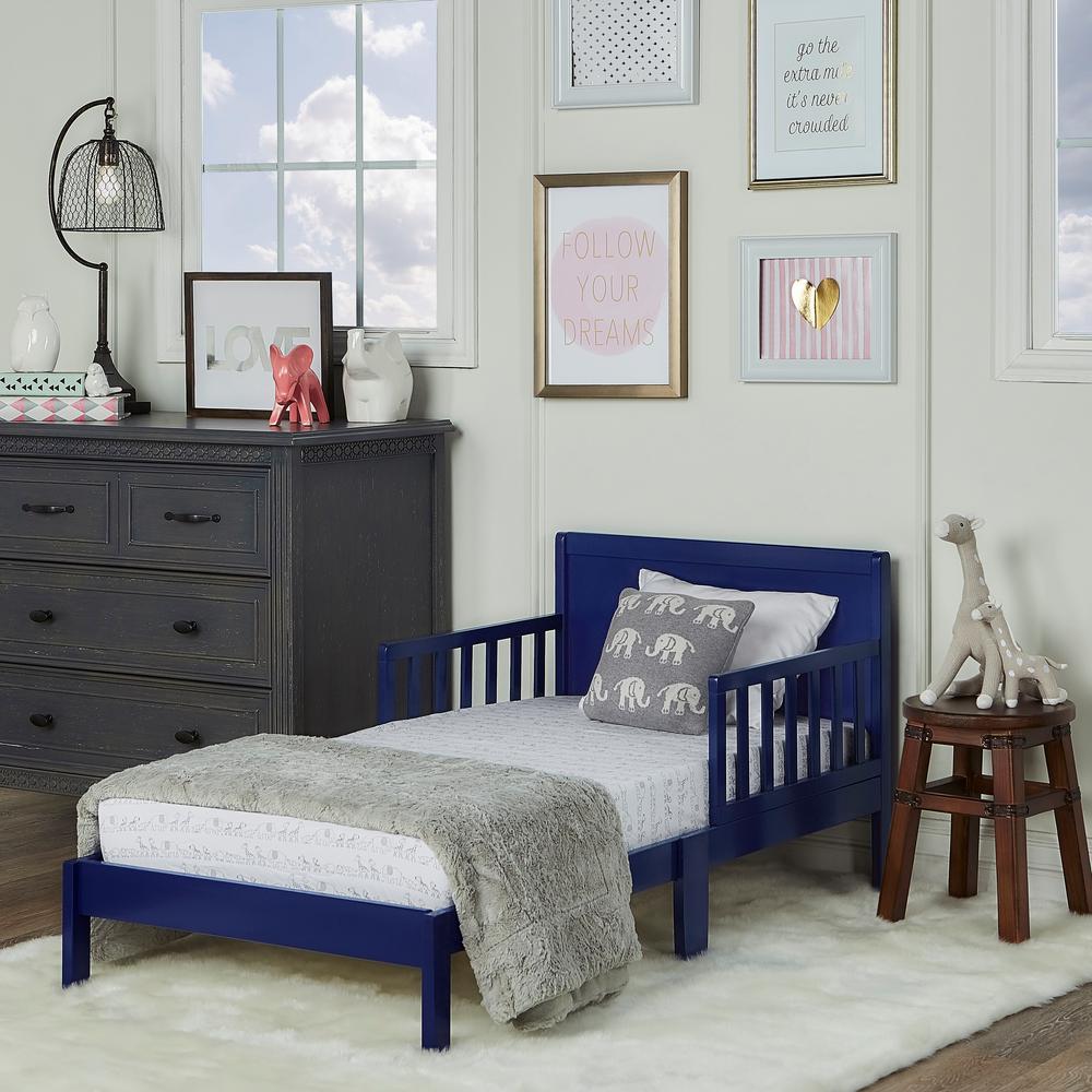 Dream On Me Brookside Royal Blue Toddler Adjule Bed
