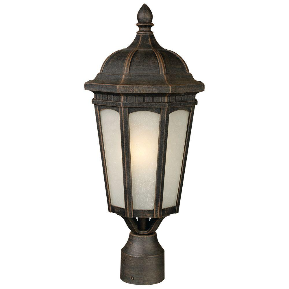 Tulen Lawrence 1-Light Outdoor Antique Bronze Incandescent Post Light-DISCONTINUED