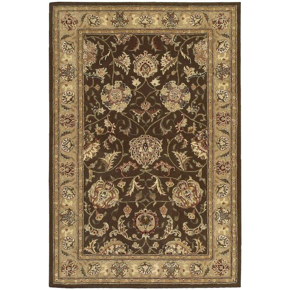 Nourison 2000 Brown 3 ft. 9 in. x 5 ft. 9 in. Area Rug