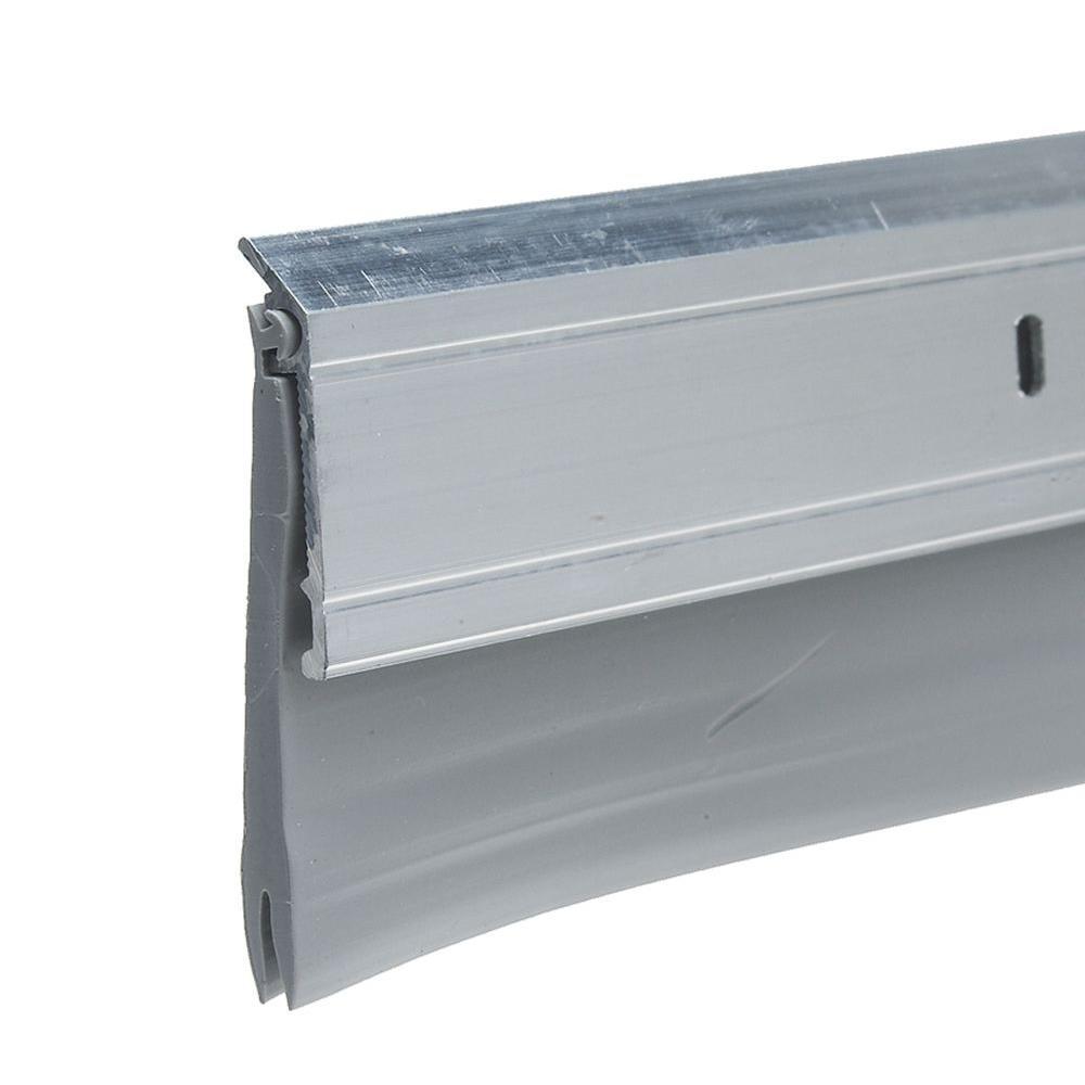 E/O 2 in. x 36 in. Silver Heavy-Duty Aluminum and Vinyl Door Sweep