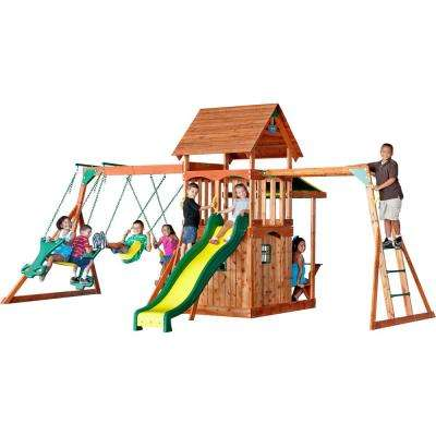 Saratoga All Cedar Playset