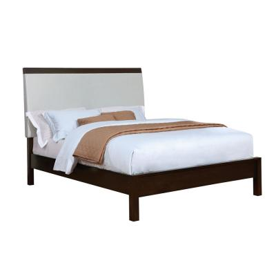 Euclid in Silver and Espresso with Leatherette Headboard  California King Bed