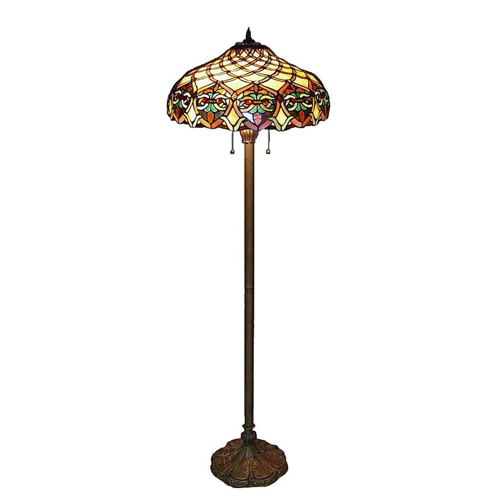Serena D\'italia Tiffany Baroque 60 in. Bronze Floor Lamp-16099/202 ...