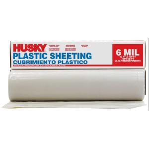Clear 6 mil Plastic Sheeting x 100 ft HUSKY 12 ft