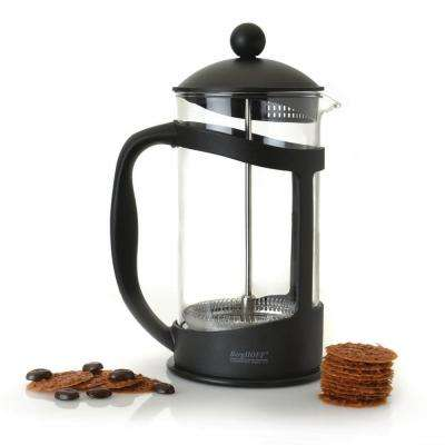 Studio 4.4-Cup Black Borosilicate Glass Coffee and Tea Plunger