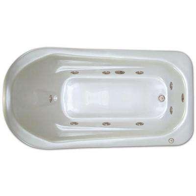 6 ft. Right Drain Drop-in Rectangular Whirlpool Bathtub in White