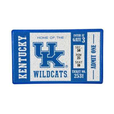 University of Kentucky 30 in. x 18 in. Vinyl Indoor/Outdoor Turf Floor Mat