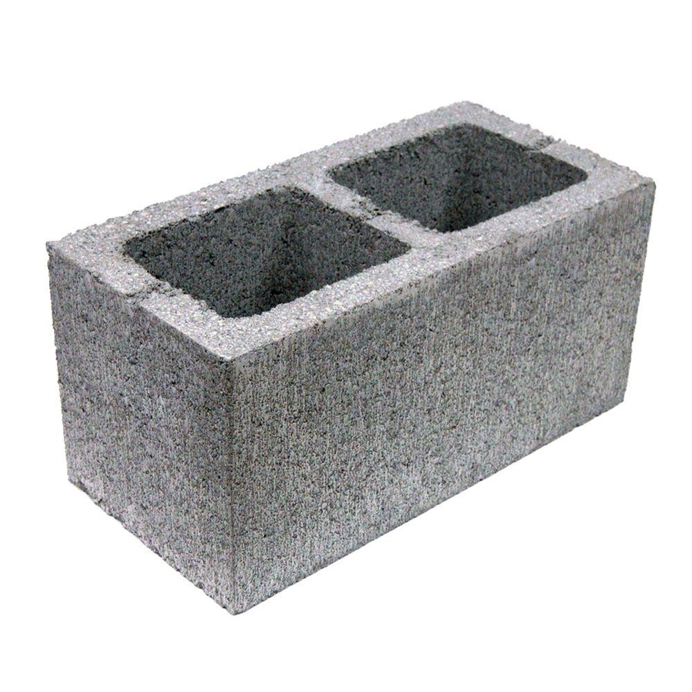 Master Products 8 in. x 8 in. x 16 in. 2-Hole Concrete Block