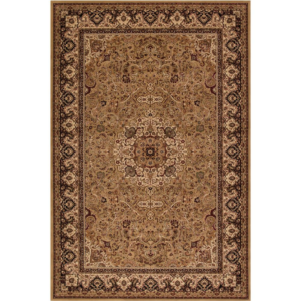 Persian Classics Isfahan Gold 5 ft. 3 in. x 7 ft. 7 in. Area Rug