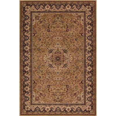 Persian Classic Isfahan Gold Rectangle Indoor 10 ft. 11 in. x 15 ft. Area Rug