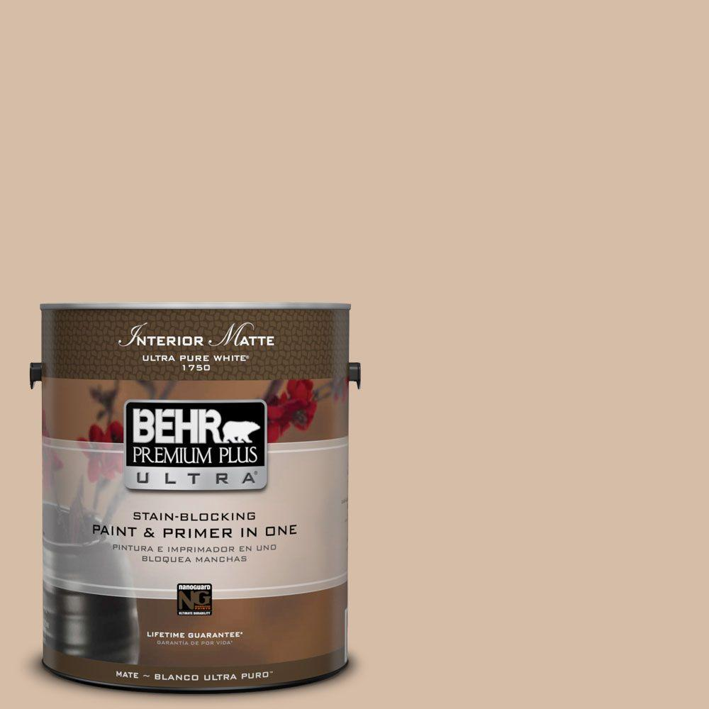BEHR Premium Plus Ultra Home Decorators Collection 1 Gal. #HDC MD 12  Tiramisu Cream Flat/Matte Interior Paint 175401   The Home Depot