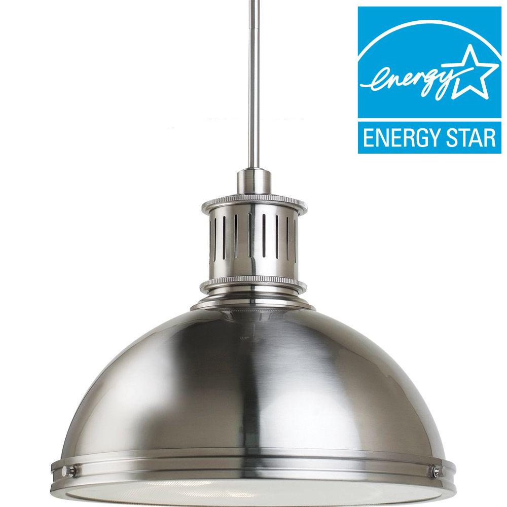 Sea Gull Lighting Pratt Street Metal 3-Light Brushed Nickel Pendant
