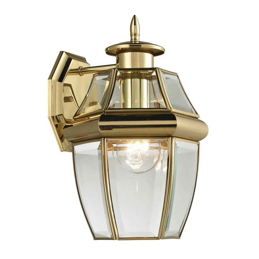 Titan Lighting Ashford 1-Light Outdoor Brass and Gold Sconce