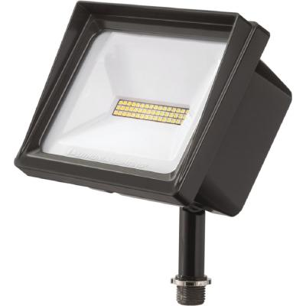 Contractor Select QTE Series 24-Watt Bronze Knukle Mount Integrated LED Outdoor Flood Light