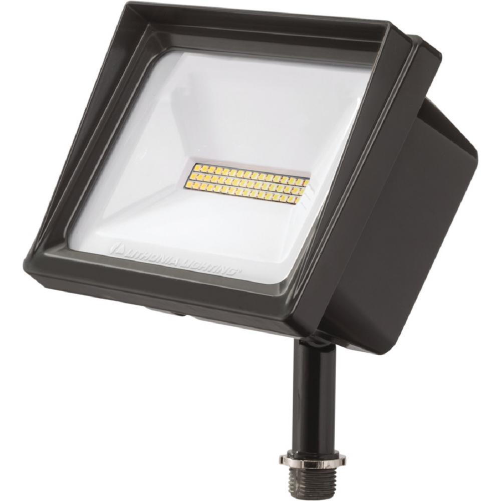 QTE 24-Watt Dark Bronze Outdoor Integrated LED Flood Light