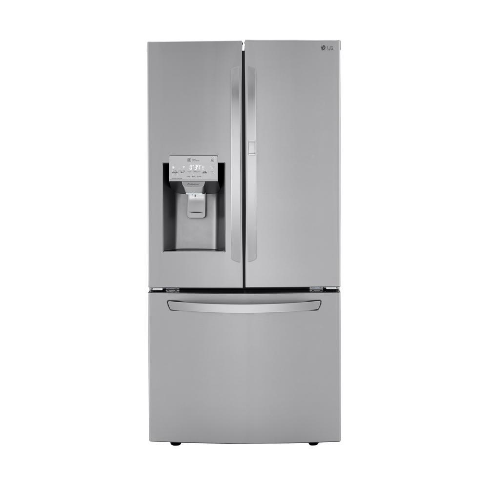 25 cu.ft. 3-Door French Door Refrigerator in PrintProof Stainless Steel with Door-in-Door and Slim Door Ice