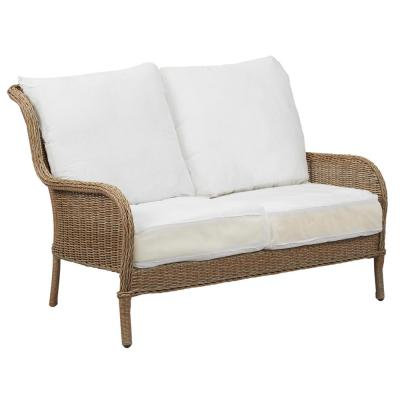 Lemon Grove Custom Wicker Outdoor Loveseat with Cushions Included, Choose Your Own Color
