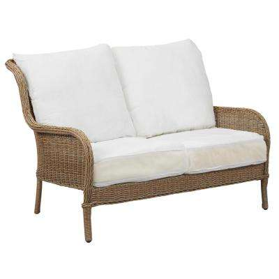 Lemon Grove Custom Wicker Outdoor Loveseat With Cushions Included Choose Your Own Color