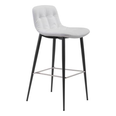 Tangiers 40.2 in. White Bar Chair (Set of 2)