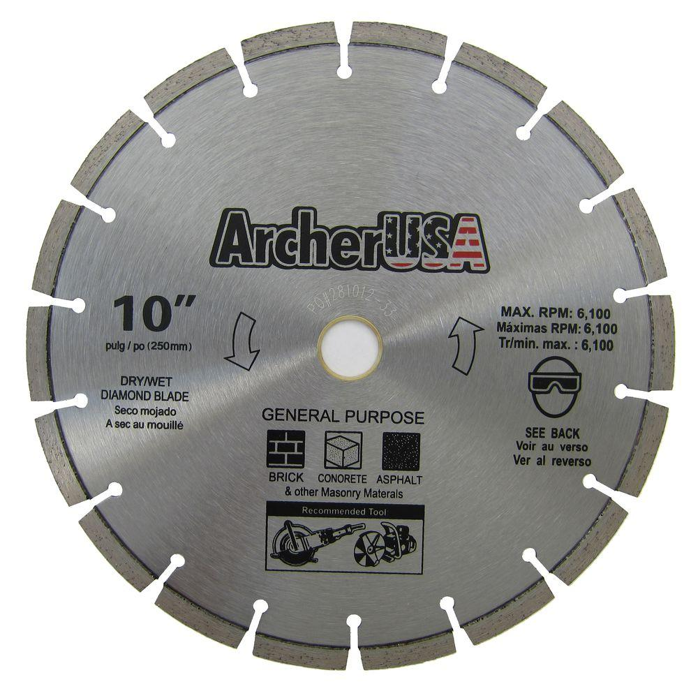 Archer USA 10 in. Diamond Blade for General Purpose