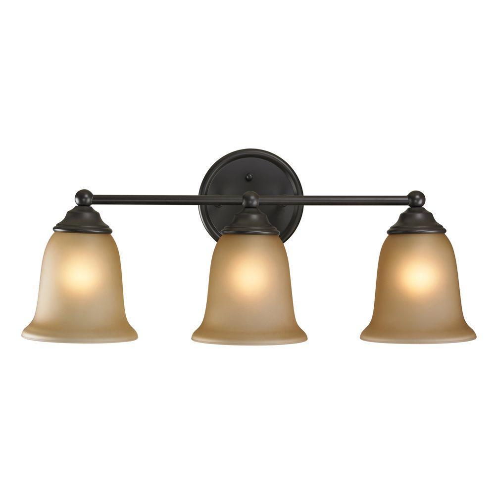 Titan Lighting Sudbury 3-Light Oil-Rubbed Bronze Wall Mount Bath Bar Light