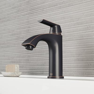 Penela Single Hole 1-Handle Bathroom Faucet in Antique Rubbed Bronze with Pop-Up