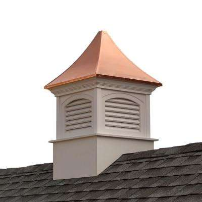 Southington 30 in. x 30 in. x 50 in. Vinyl Cupola with Copper Roof