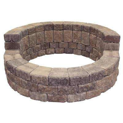 58 in. x 24 in. Concrete Romanstack High Back Fire Pit Kit in Northwest Blend