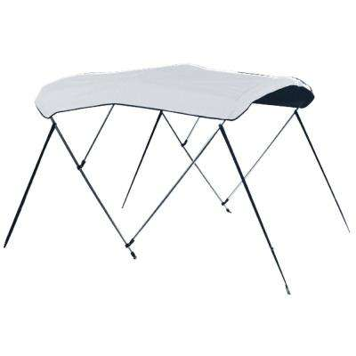 85 in. to 90 in. 3 Bow Polyguard Ready-To-Assemble Bimini Top, White