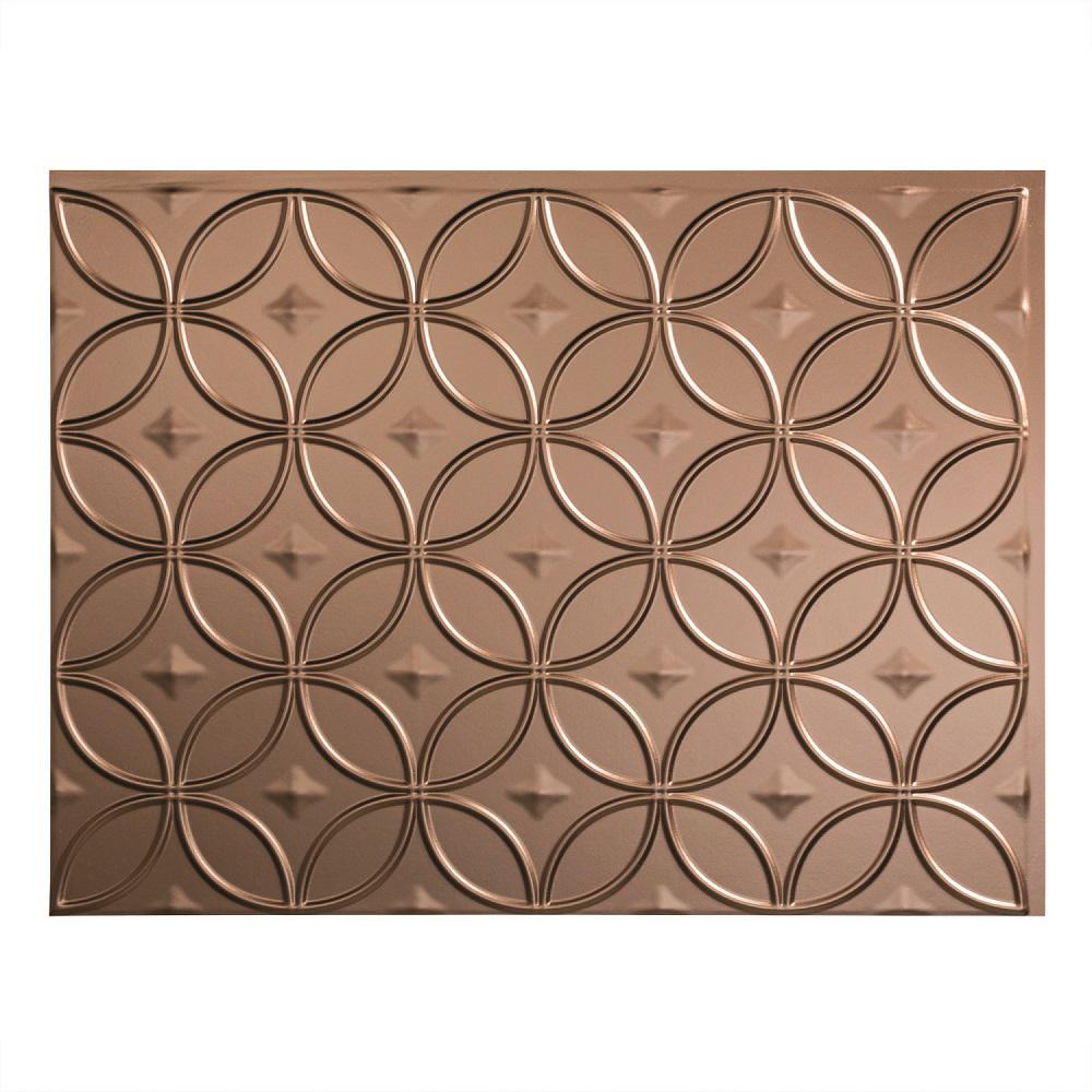 24 in. x 18 in. Rings PVC Decorative Backsplash Panel in