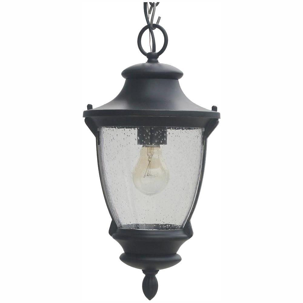 Wilkerson 1-Light Black Outdoor Chain Hung Lantern