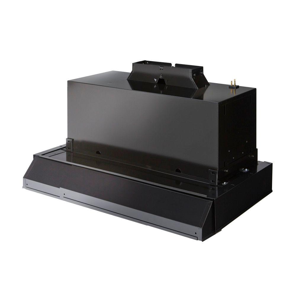 Broan Custom 29 in  Insert Range Hood Kit with Light in Black
