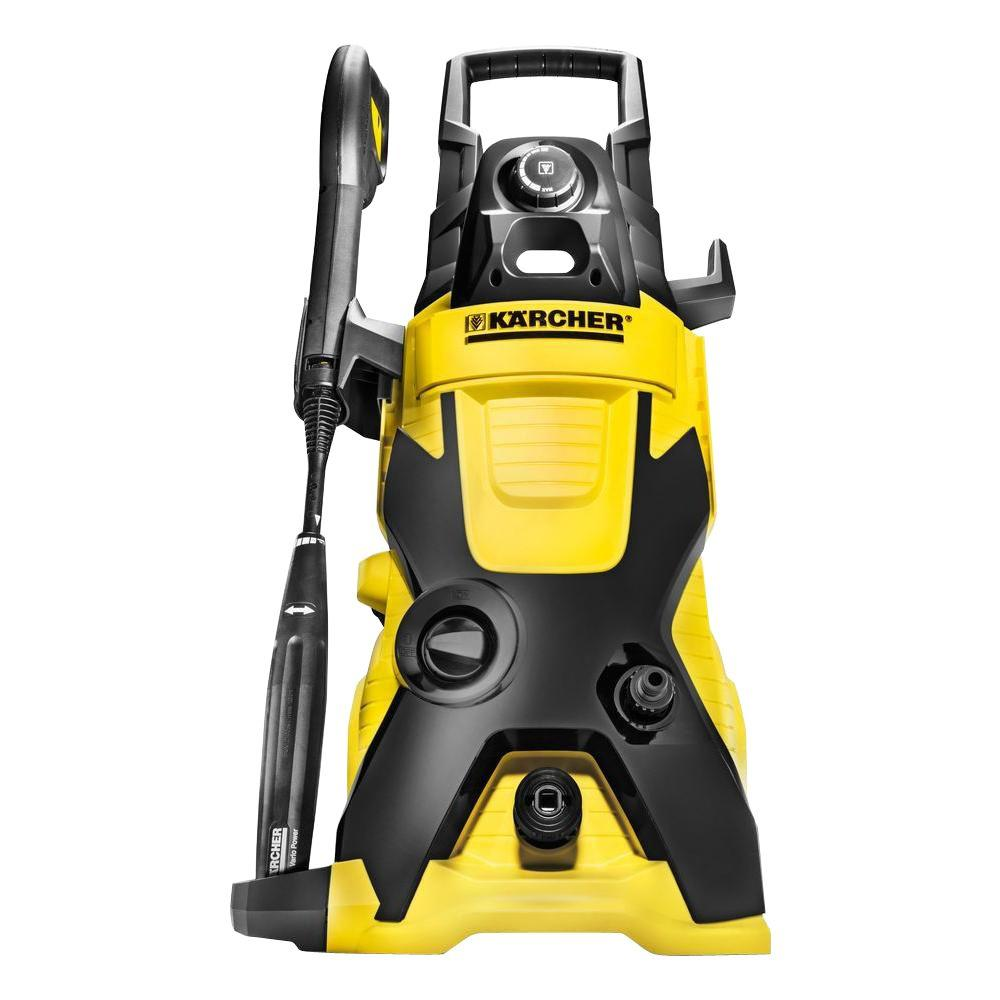 Karcher K4 Full Control Pressure Washer with Bike and Car Cleaning Kit Yellow//Black