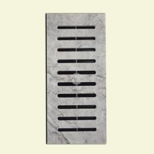 Made2Match MS International Silver Honed Travertine 5 inch x 11 inch Floor Vent Register... by
