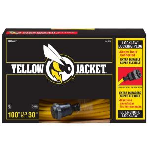 Yellow Jacket 100 ft. 12/3 SJTW Outdoor Heavy-Duty Extension Cord with Lock Jaw... by Yellow Jacket