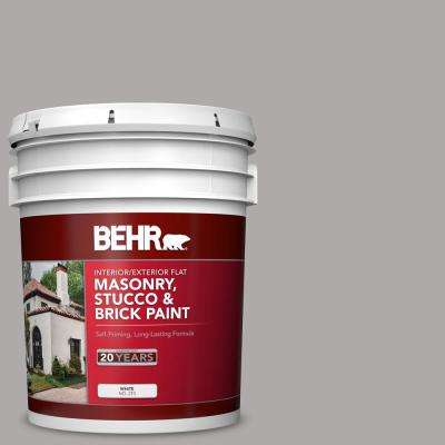 5 gal. #MS-81 Crater Gray Flat Interior/Exterior Masonry, Stucco and Brick Paint