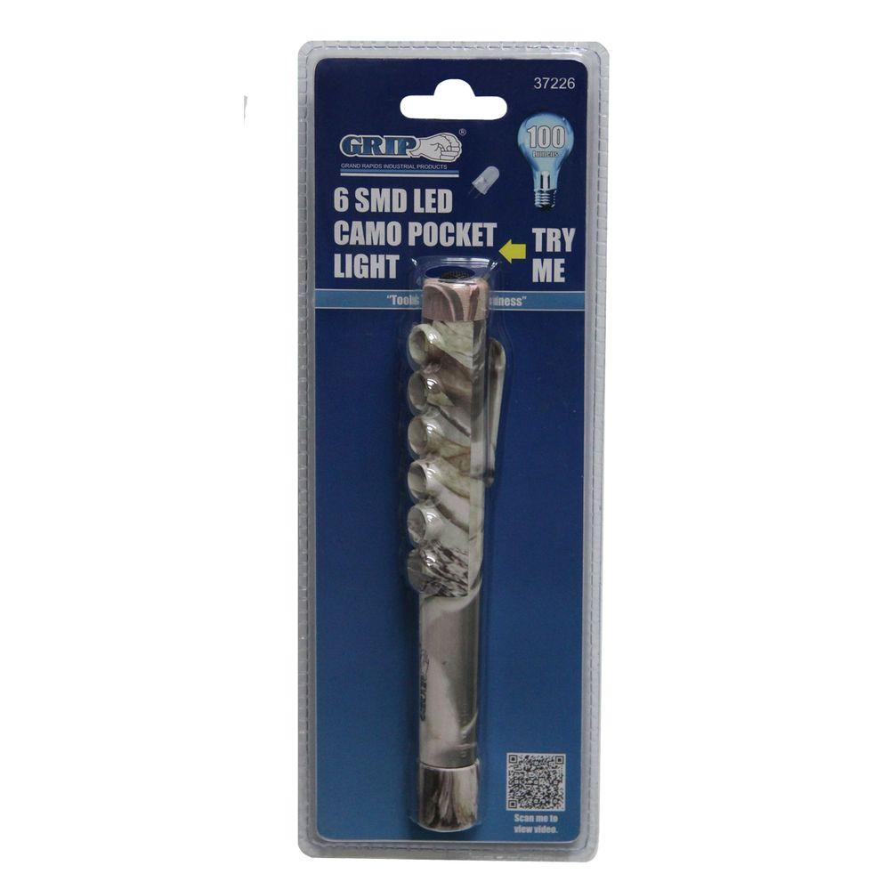 Grip 6 LED Camo Pocket Light