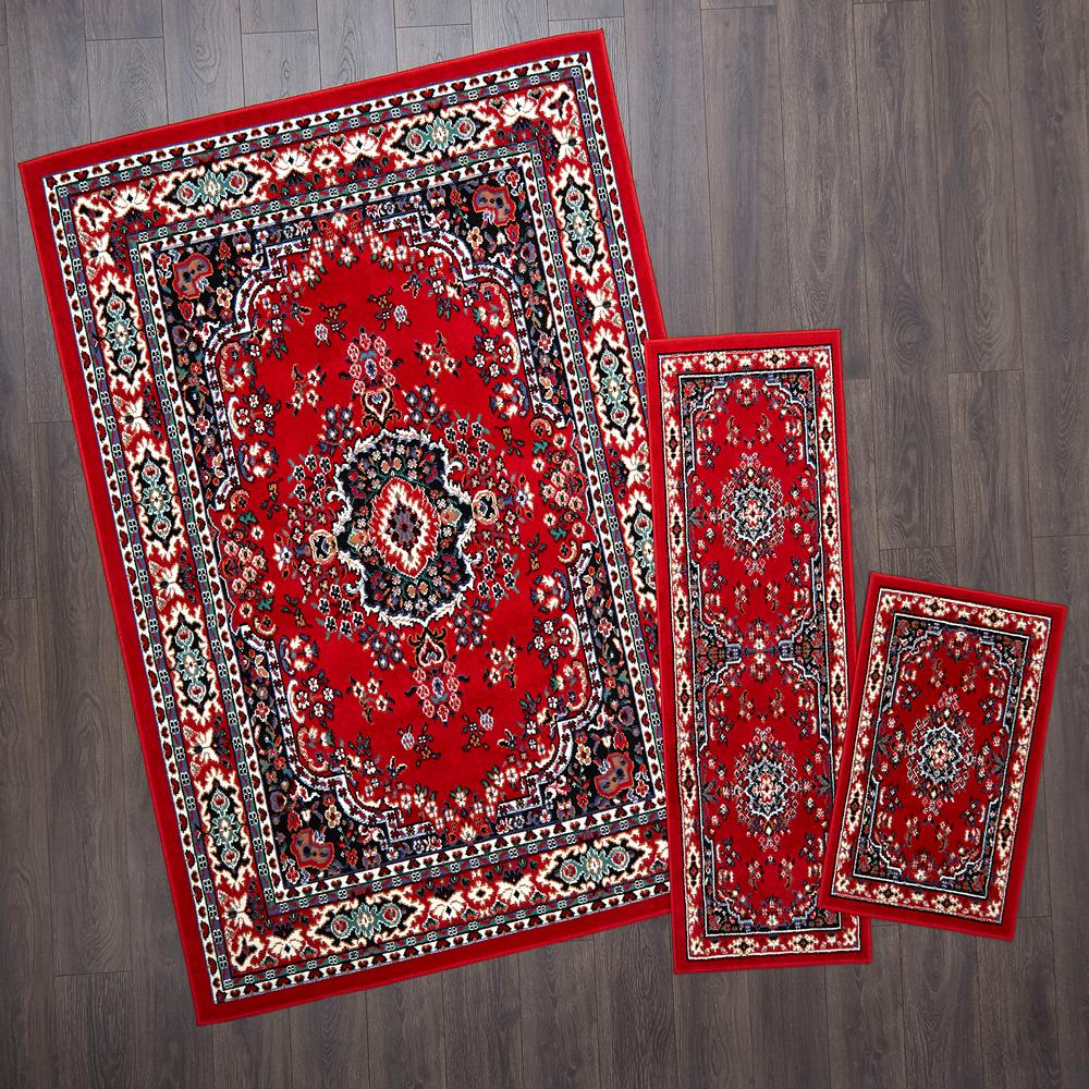 Lancaster Red Indoor Global Area Rug Common 5 X 7 Actual 60 Ft W 79 L