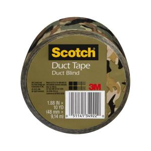 Click here to buy 3M Scotch 1.88 inch x 10 yds. Camo Duct Tape by 3M.