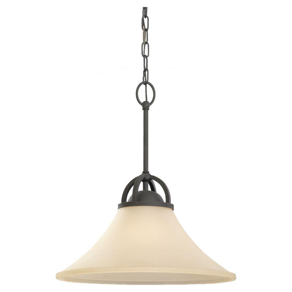Sea Gull Lighting Somerton 1-Light Blacksmith Pendant